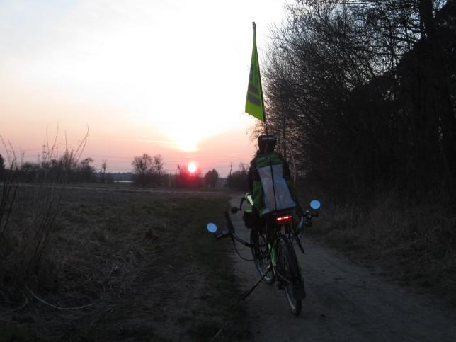 Sonnenuntergang bei Pfungstadt