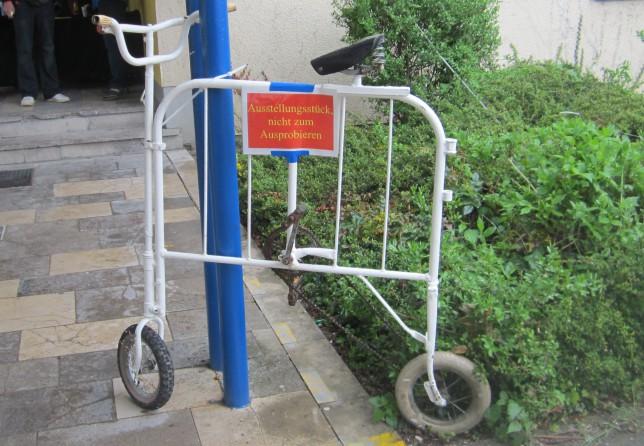 Ein Spezialrad, das ausnahmeweise nicht ausprobiert werden kann