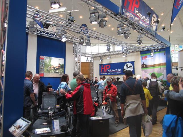 Stand von HP Velotechnik auf der SPEZI 2015 (Bild: Klaus Dapp)