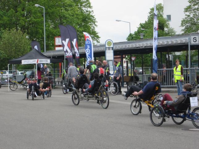 Testparcours auf der Spezialradmesse 2015 (Bild: Klaus Dapp)