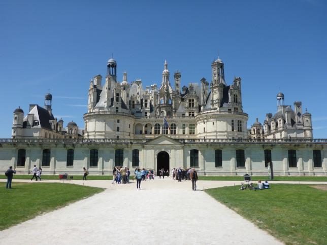 Eingang zum Schloss Chambord (Bild: Klaus Dapp)