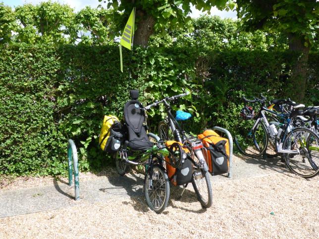 Fahrradparkplatz am Schloss Villandry (Bild: Klaus Dapp)