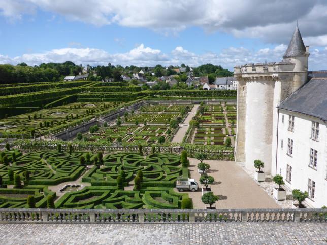 Gartenanlage am Schloss Villandry (Bild: Klaus Dapp)