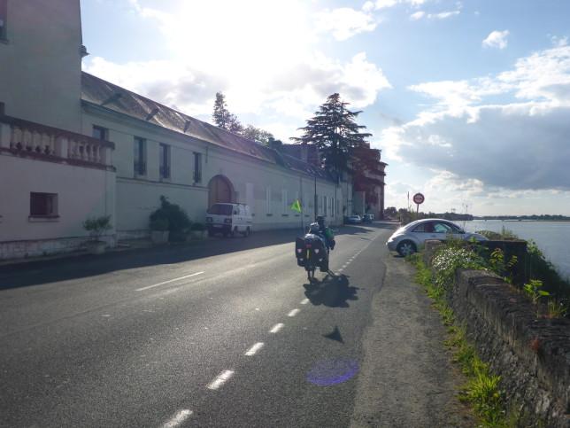 Liegeradtandem in Montsoreau (Bild: Klaus Dapp)