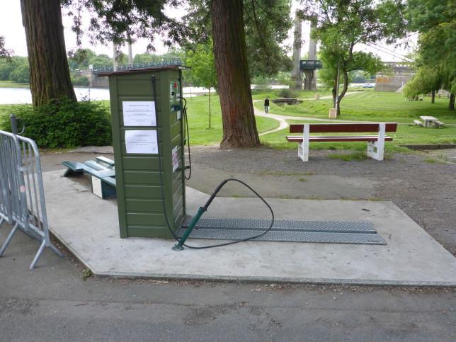 Fahrradstation in Bouchemaine (Bild: Klaus Dapp)