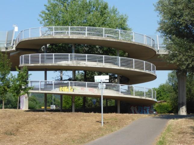 Fahrradrampe als Teil der Fahrradinfrastruktur in Ulm (Bild: Klaus Dapp)