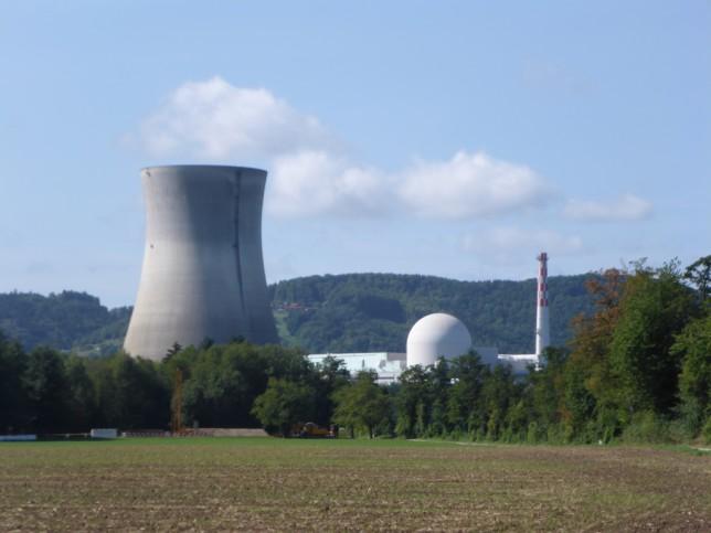 Blick auf das Atomkraftwerk Leibstadt (Bild: Klaus Dapp)