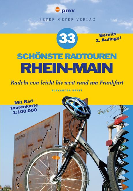 """Cover der Radtourenführers """"33 Schönste Radtouren Rhein-Main""""(©pmv Peter Meyer Verlag)"""