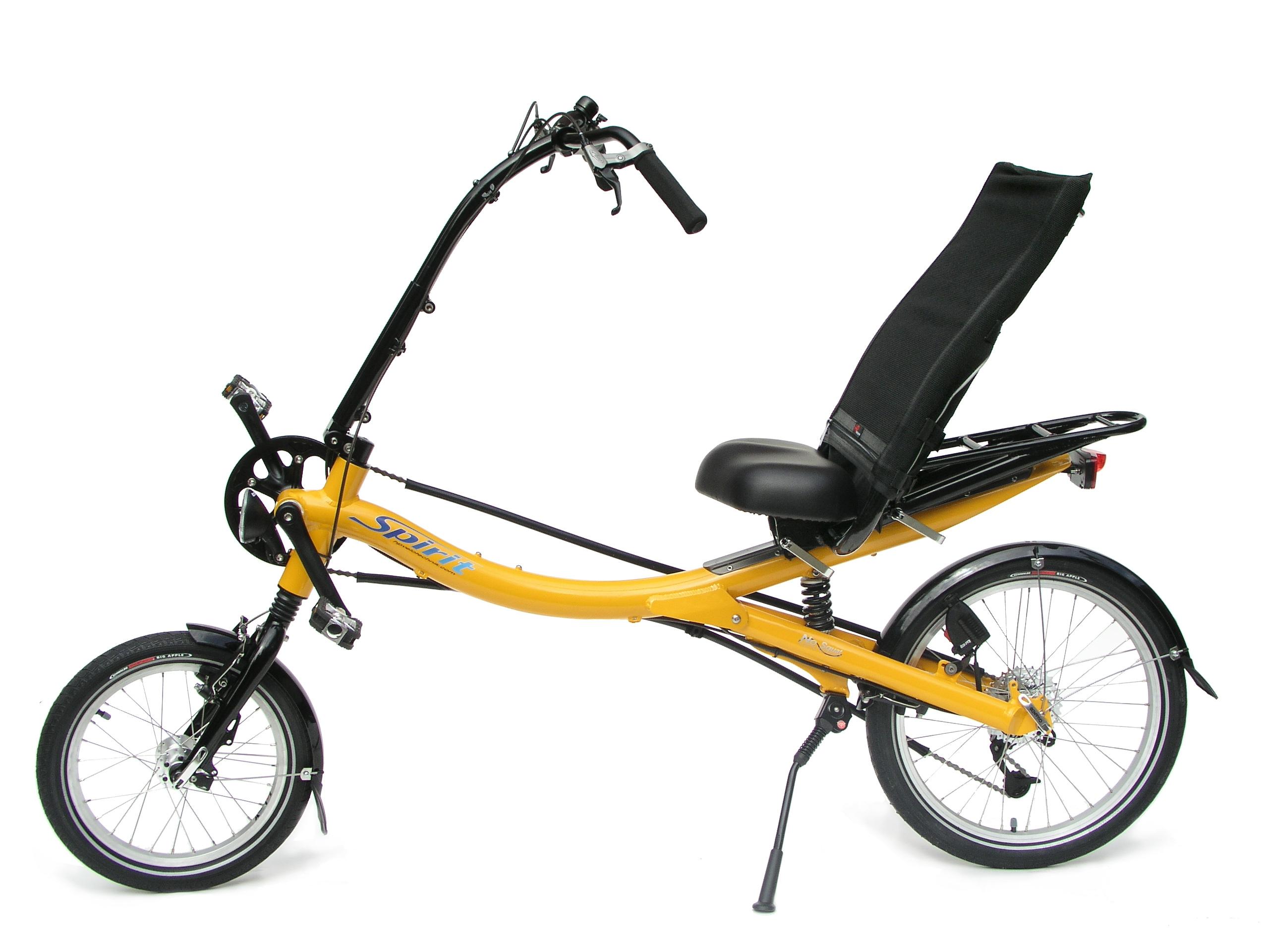 Spirit in der Modellversion vor 2009 mit kleinem Vorderrad (Bild: HP Velotechnik)