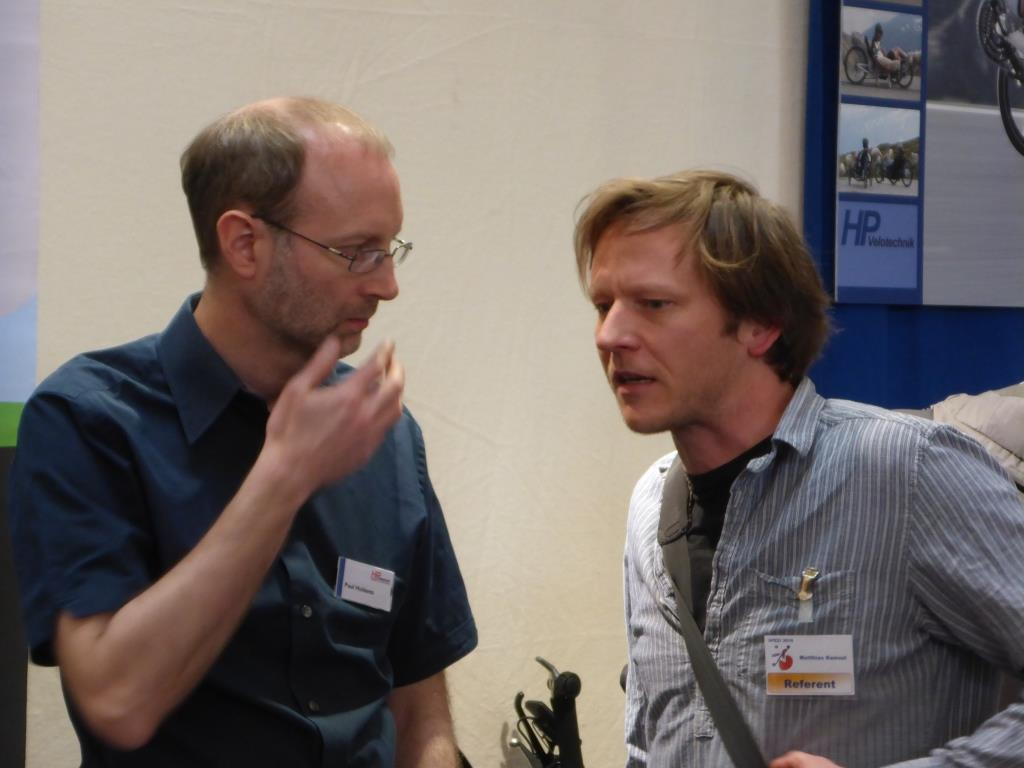 Firmengründer Paul Hollants und Referent Matthias Rams (Bild: Klaus Dapp)
