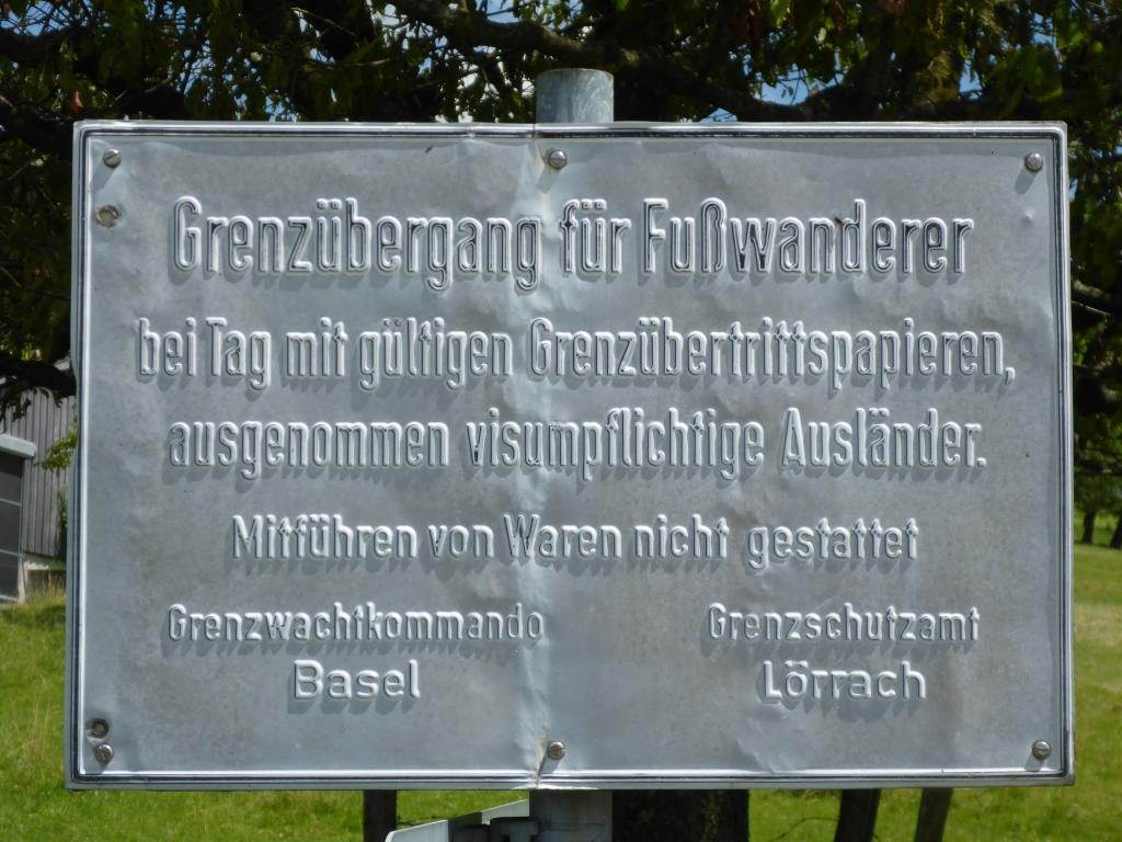 """Aktuelle Grenzregelungen an der """"Eisernen Hand"""" (Bild: Klaus Dapp)"""