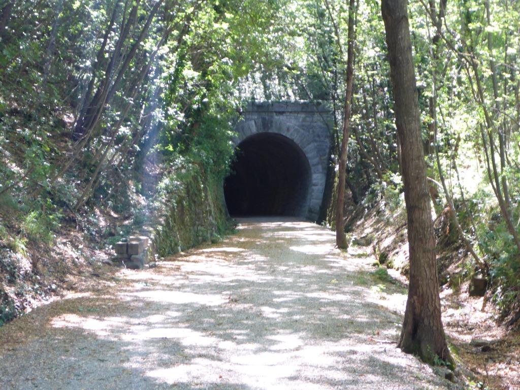 Tunnel auf dem Radweg nach Draga (Bild: Klaus Dapp)