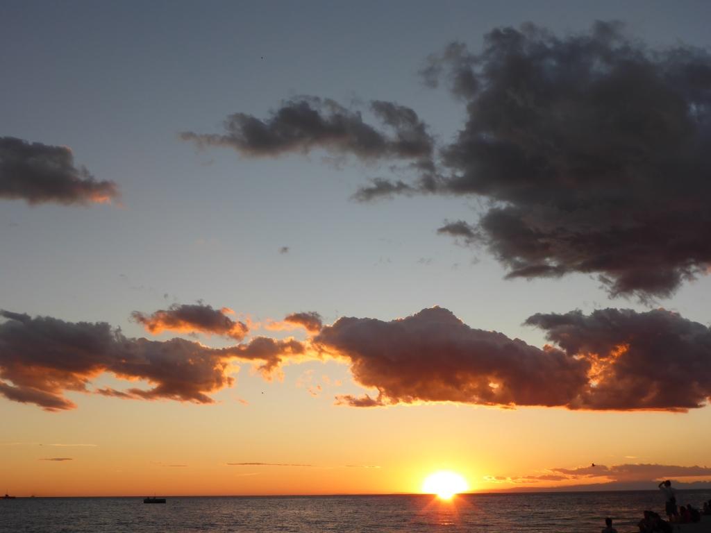 Sonnenuntergang über der Adria (Bild: Klaus Dapp)