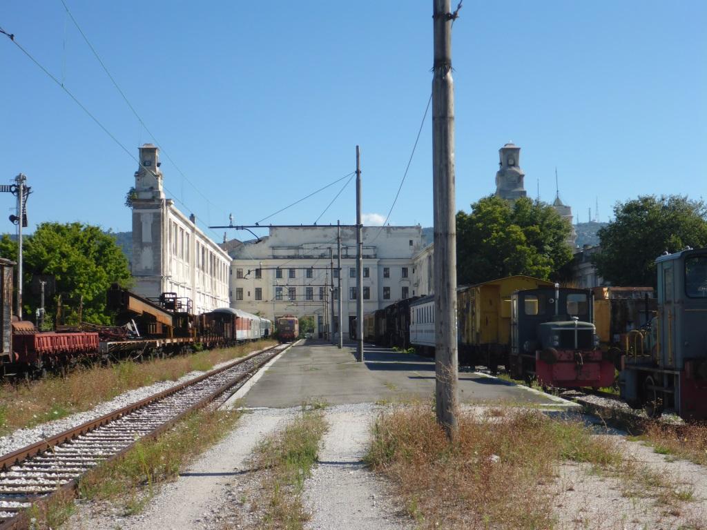 Ehemaliger Hafenbahnhof von Triest (ohne das ursprüngliche überspannende Dach, Bild: Klaus Dapp)