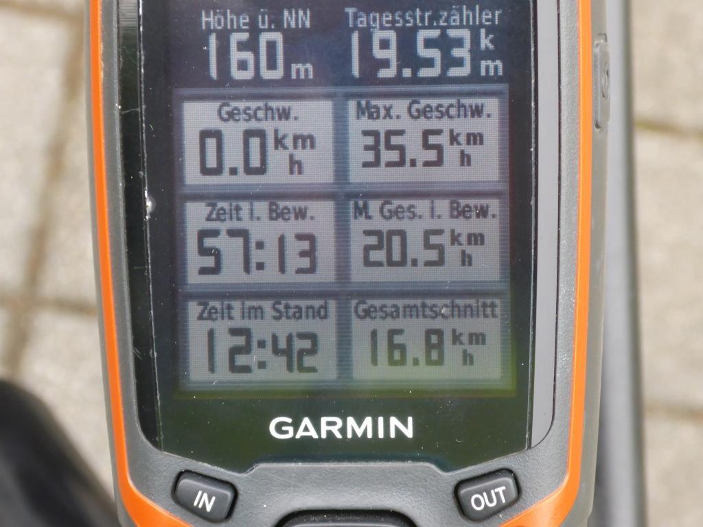 GPS-Gerät Harmin 62s mit Tagesauswertung (Bild: Klaus Dapp)