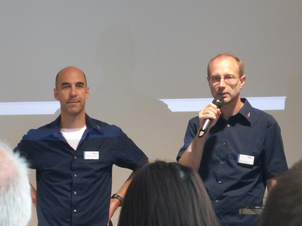 Daniel Pulvermüller und Paul Hollants eröffnen den Tag der offenen Tür 2017 (Bild: Klaus Dapp)
