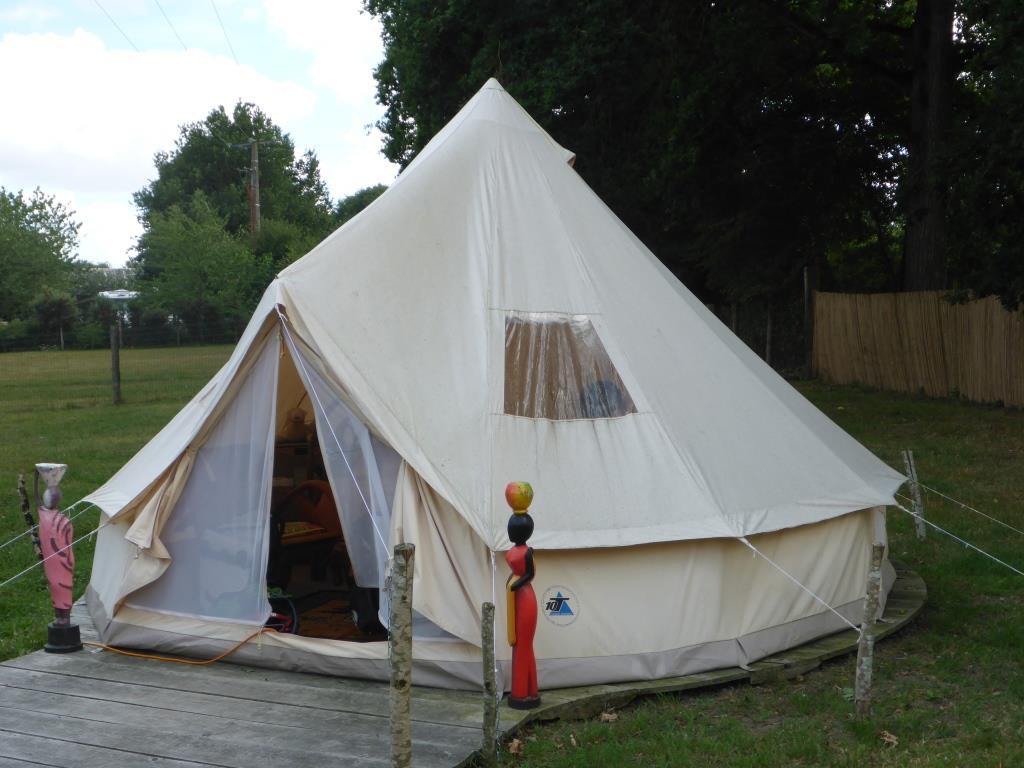 Unser Zelt in Piardière (Bild: Klaus Dapp)
