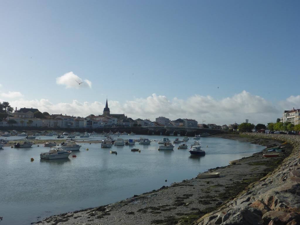 St-Gilles-Croix-de-Vie vom landseitigen Hafen aus gesehen (Bild: Klaus Dapp)