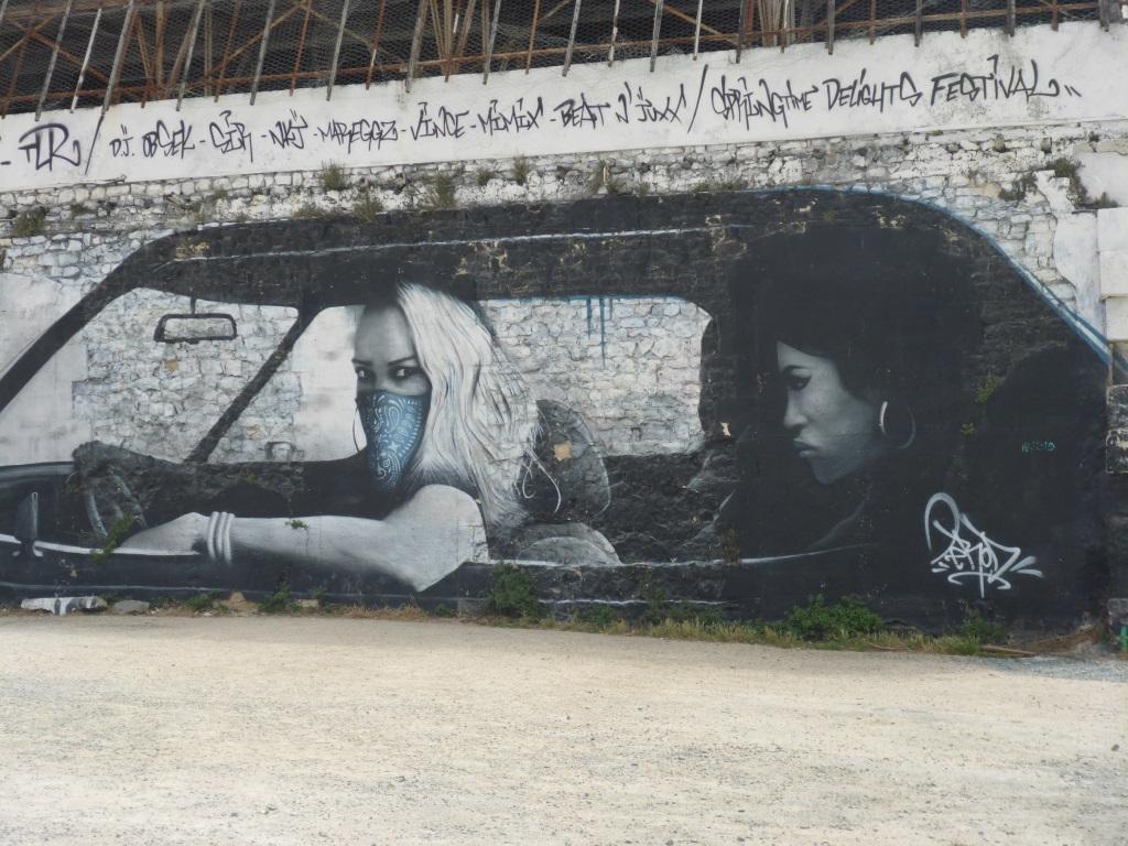 Grafitti bei einer Konversionsfläche am Hafen (Bild: Klaus Dapp)