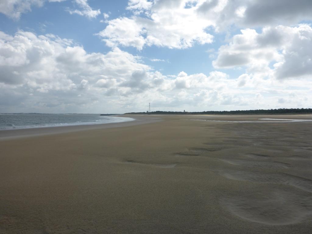 Leerer Strand bei Pointe-de-Grave (Bild: Klaus Dapp)