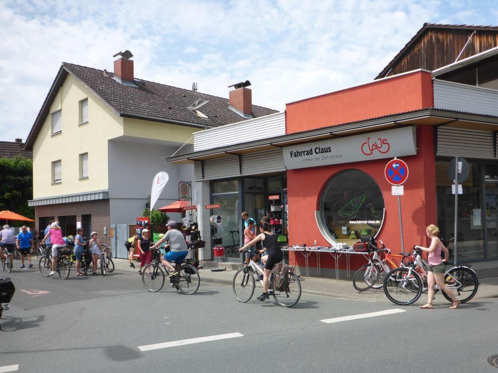 Fahrrad Claus in Trebur an der Route (Bild: Klaus Dapp)
