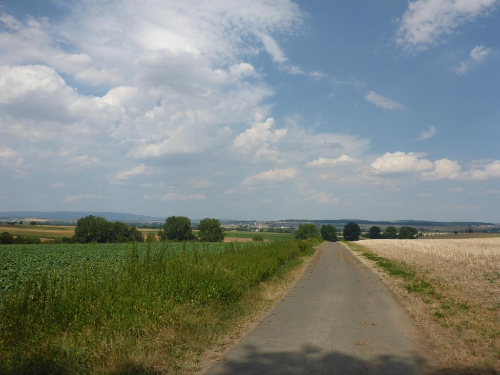 Blick ins Niddatal aus Niederdorfelden (Bild: Klaus Dapp)