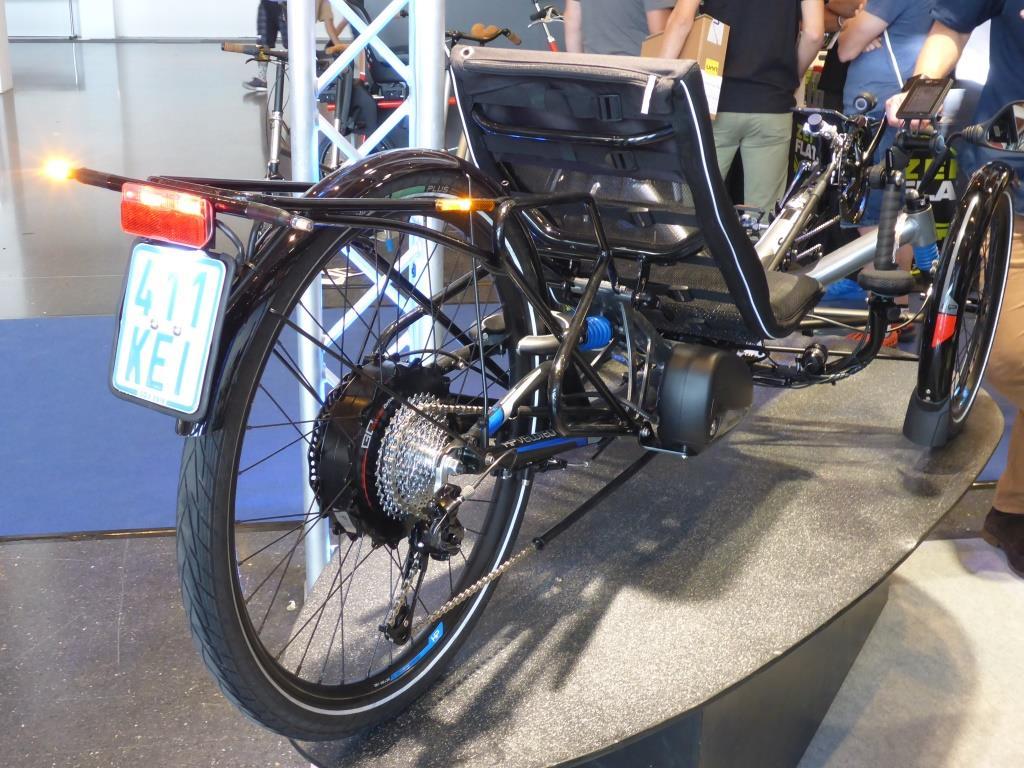 """Das neue schnelle E-Bike-Scorpion von HP Velotechnik """"Blinker links"""" (Bild: Klaus Dapp)"""