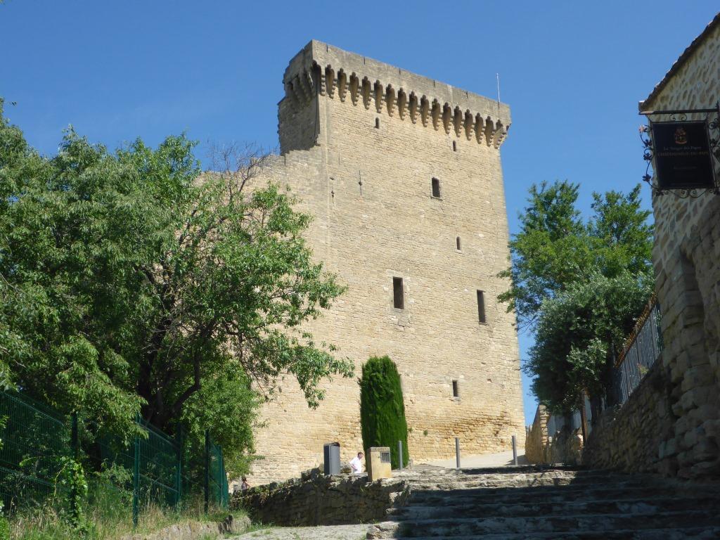Reste der Burg von Châteauneuf-du-Pape (Bild: Klaus Dapp)