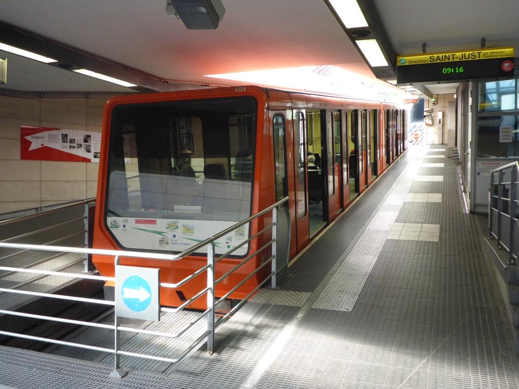 Standseilbahn in Lyon (Bild: Klaus Dapp)