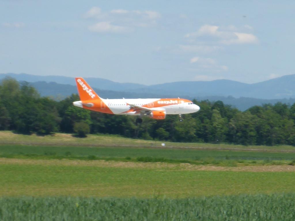 Landung auf dem Euroairport (Bild: Klaus Dapp)