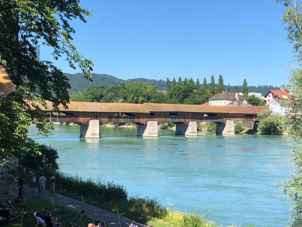 Längste gedeckte Holzbrücke in Europa in Bad Säckingen (Bild: Klaus Dapp)