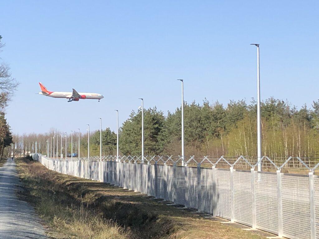 Flug AI125 von Mumbai nach Frankfurt am Main kurz vor der Landung (Bild: Klaus Dapp)