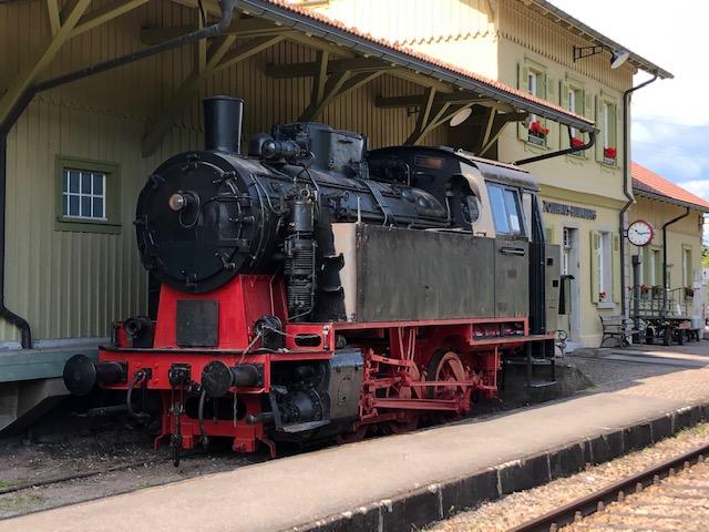 Dampflok der Sauschwänzlebahn im Bahnhof Blumberg-Zollhaus (Bild: Klaus Dapp)