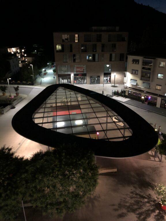 Blick auf den nächstlichen Busbahnhof in Nagold (Bild: Klaus Dapp)