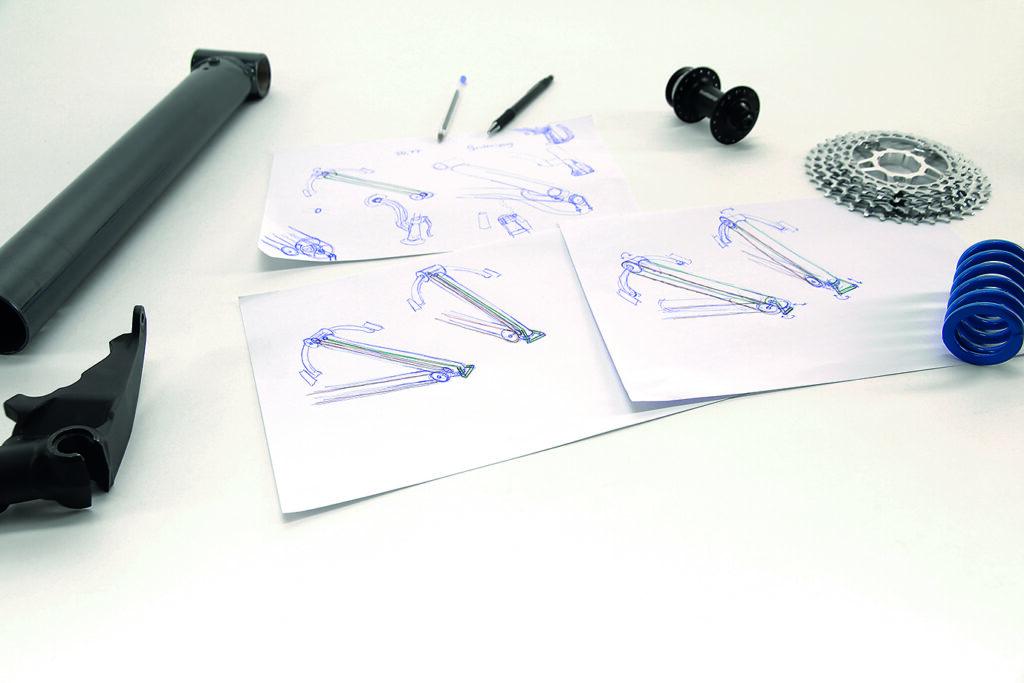 Erste Skizzen für einen Handantrieb für die Dreiräder von HP-Velotchnik (Bild: HP-Velotechnik)