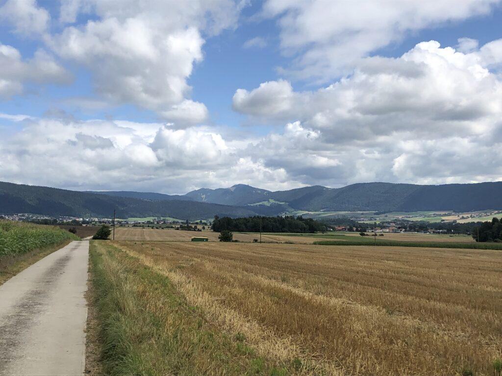 Blick in den Jura bei Les Geneveys-sur-Coffrane (Bild: Klaus Dapp)