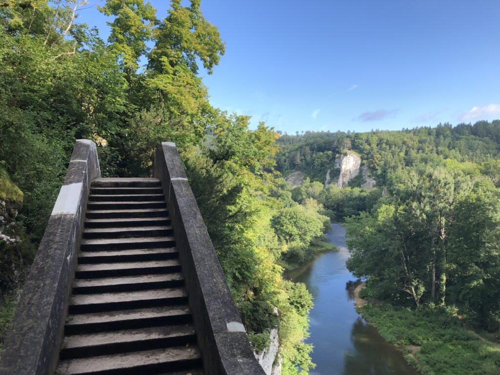 Blick von der Teufelsbrücke zur Donau (Bild: Klaus Dapp)