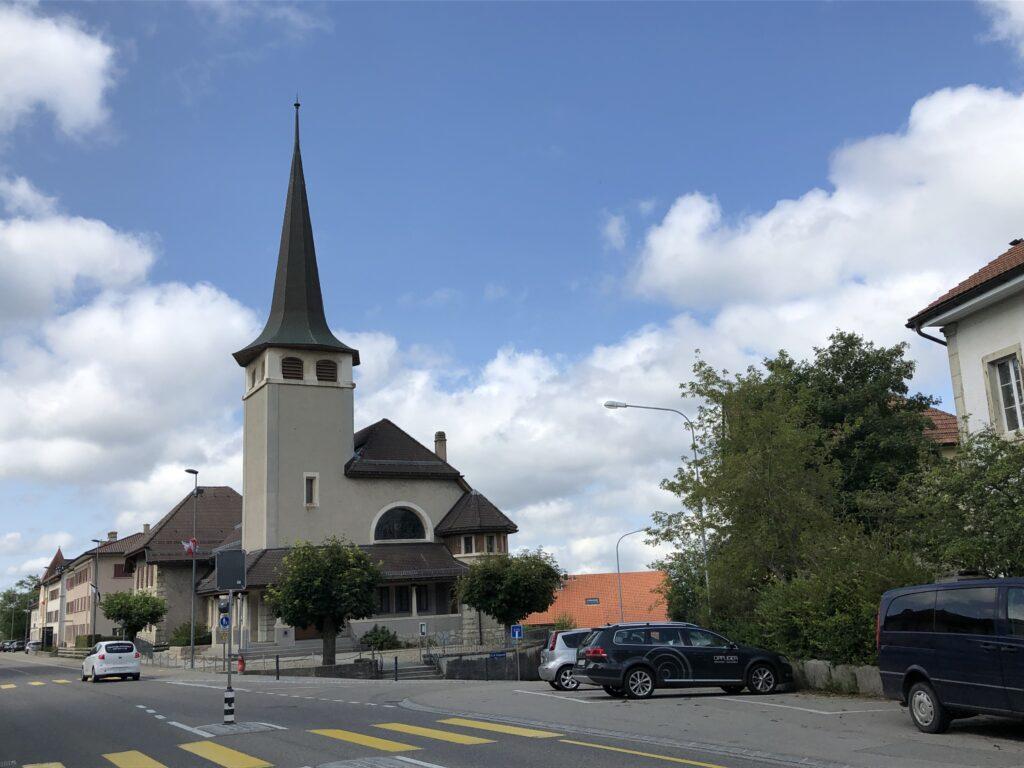 Kirche in Saignelégier (Bild Klaus Dapp)