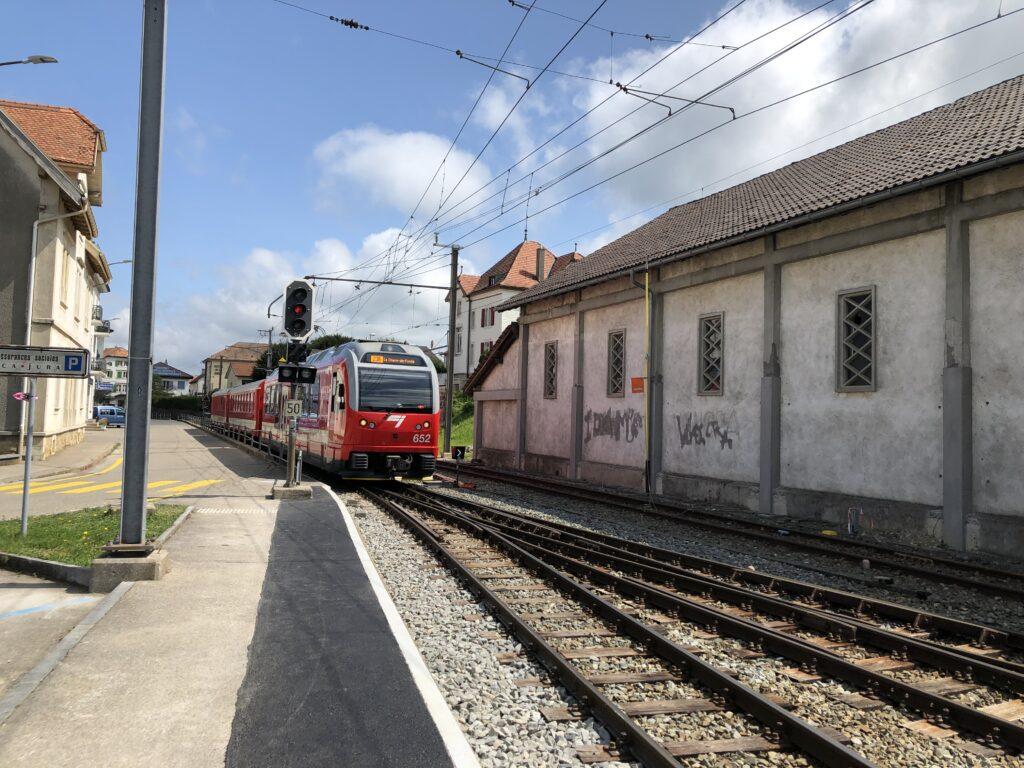 Jura-Schmalspurbahn in Saignelégier (Bild Klaus Dapp)
