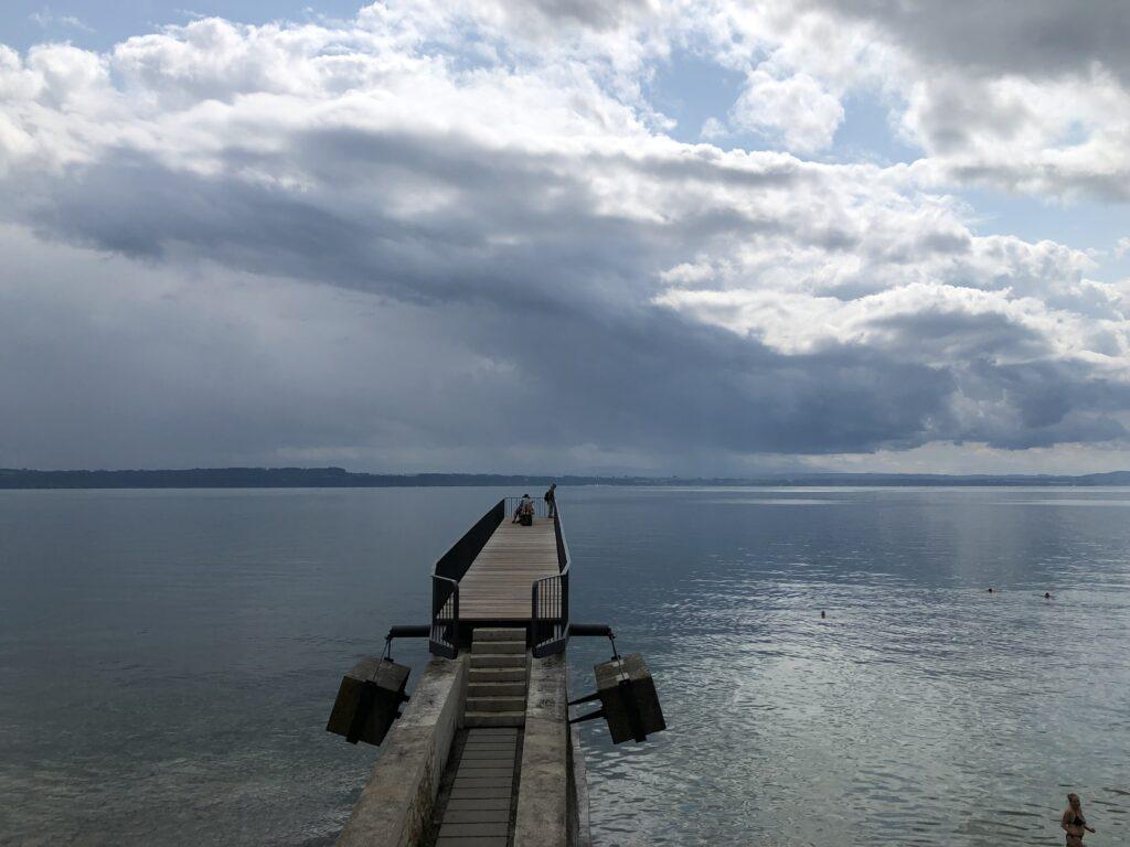 Blick auf den Lake Neuchâtel (Bild: Klaus Dapp)