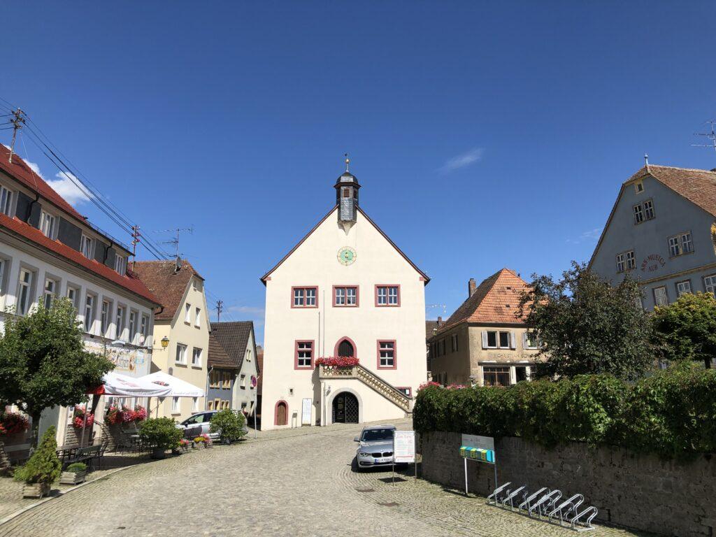 Rathaus von Aub (Bild: Klaus Dapp)