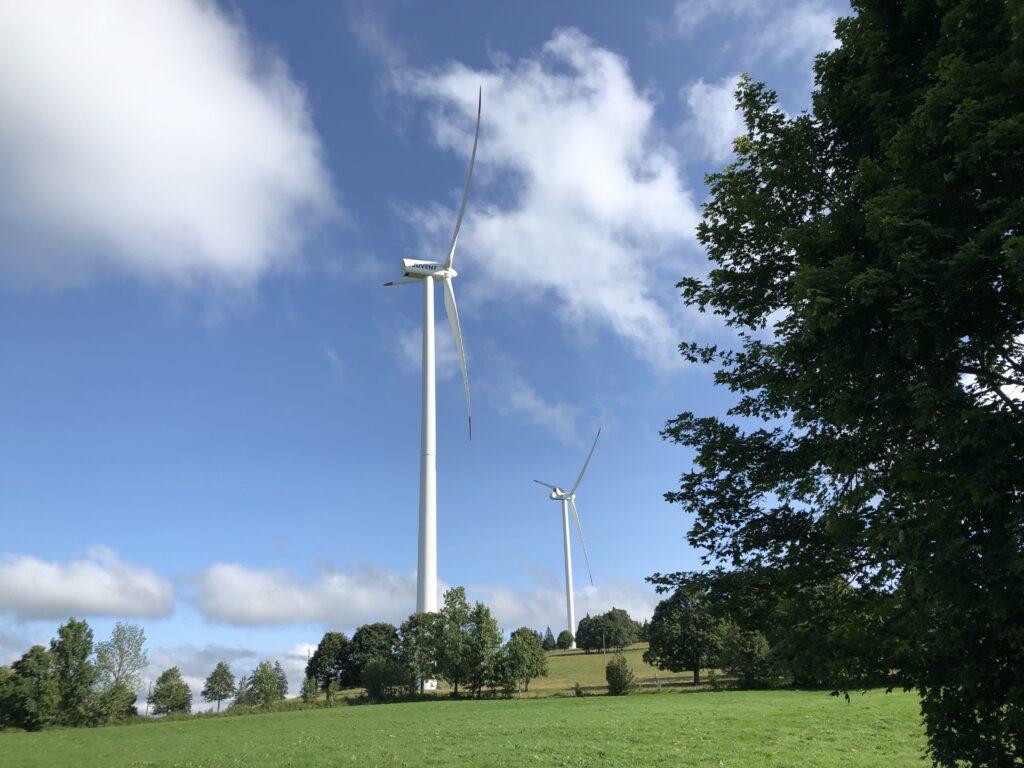 Windenergieanlage auf dem Mont Soleil (Bild: Klaus Dapp)